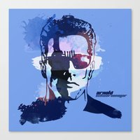 terminator Canvas Prints featuring Terminator by BIG Colours