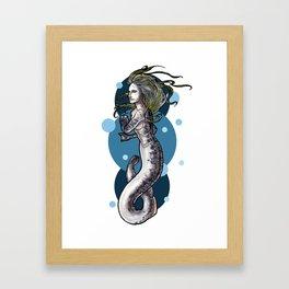 Sea Lamprey Mermaid Framed Art Print