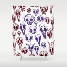 bestiary in color Shower Curtain