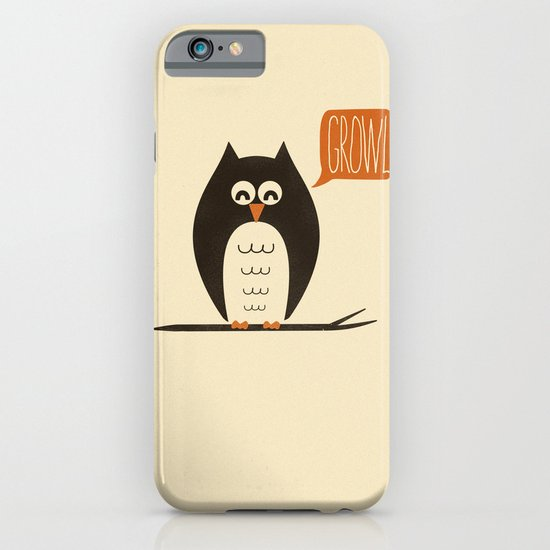 An Owl With a Growl iPhone & iPod Case