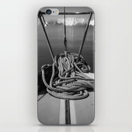 Black and White Boat Life iPhone Skin