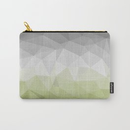 light green and grey polygon Carry-All Pouch