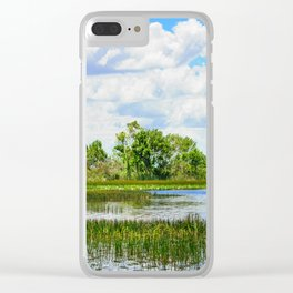 Everglades Reflections Clear iPhone Case