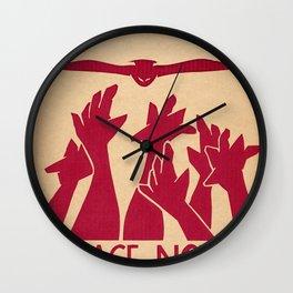 Peace Now Wall Clock