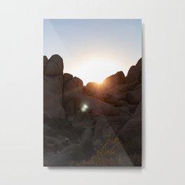 Joshua Tree Boulder Sunset Metal Print