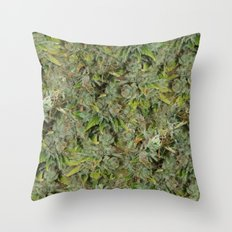 cannabis bud, marijuana macro Throw Pillow
