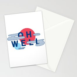 Oh Well - Blue and Red Stationery Cards