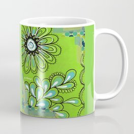 Green Flower Coffee Mug