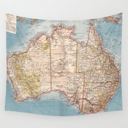 Australian Topography Map (1905) Wall Tapestry