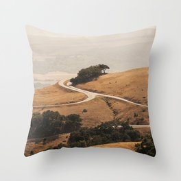 San Simeon Hills Throw Pillow