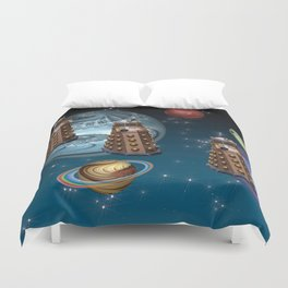 March Of The Daleks Duvet Cover