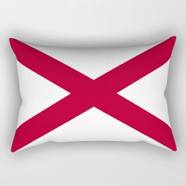 Flag of Alabama-Alabaman,south,birmingham,Montgomery,Jazz,blues,countryside,bible belt,cotton,usa,us Rectangular Pillow