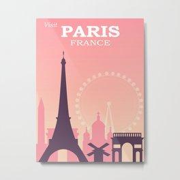 Paris Vintage Poster Metal Print