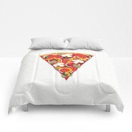 PIZZA POWER - VEGO VERSION Comforters