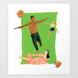 Three Dancers Art Print
