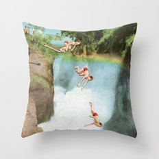 Diving Board Throw Pillow