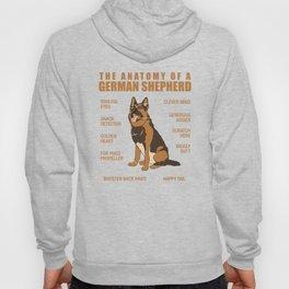 German Shepherd Anatomy Hoody
