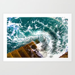 Wave Swirl Art Print