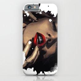 Licking fingers. Mina iPhone Case