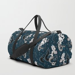 Pearla the Mermaid Riding on a Seahorse Duffle Bag