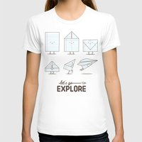 transformer T-shirts featuring Let's go explore by I Love Doodle