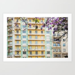 Downtown Lisbon Art Print