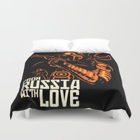 russia Duvet Covers featuring From Russia With Love by rnlaing