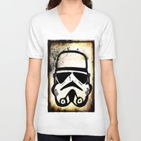 trooper V-neck T-shirts featuring Trooper by Cyndi Sabido