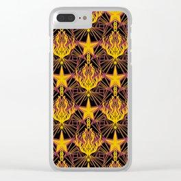 Starfire Kaleidoscope (Glowing Embers of the Sun) Clear iPhone Case