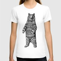 bear T-shirts featuring Ornate Grizzly Bear by BIOWORKZ