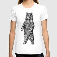 bioworkz T-shirts featuring Ornate Grizzly Bear by BIOWORKZ