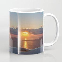 Sunset from a plane Coffee Mug