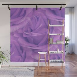 Seamless Purple Rose Vector Wall Mural
