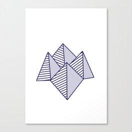 Paku Paku, navy lines Canvas Print
