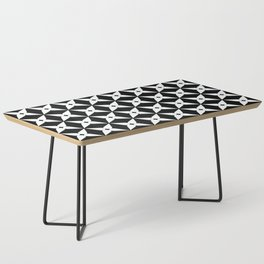Geometric Pattern 247 (white crosses) Coffee Table