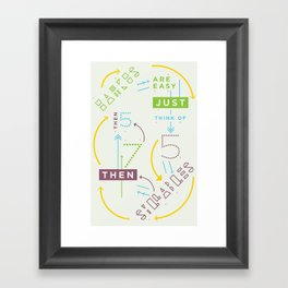Haikuglyphics - Haikanics Framed Art Print