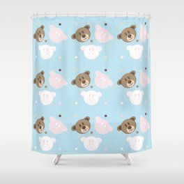 sweat bears Shower Curtain