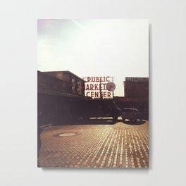 Pike Place Market @ Seattle, Washington Metal Print