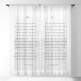 For what its worth - F. Scott Fitzgerald Sheer Curtain