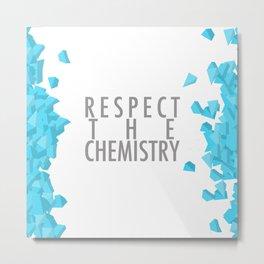 Breaking Bad: Respect the Chemistry Metal Print