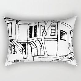 Plovdiv old Town Street Rectangular Pillow