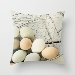 Eggs in one basket Throw Pillow