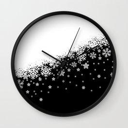 Dark Snowflakes Wall Clock