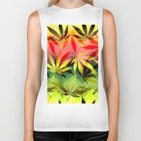 marijuana Biker Tanks featuring Marijuana by SpecialTees