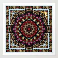 Angel Window Kaleidoscope Art Print
