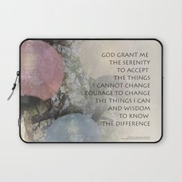 Serenity Prayer Tree and Lanterns Laptop Sleeve