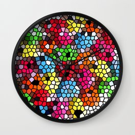 Cheerful stained glass Wall Clock