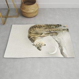 Koson Ohara - Roaring Tiger - Japanese Vintage Ukiyo-e Woodblock Painting Rug