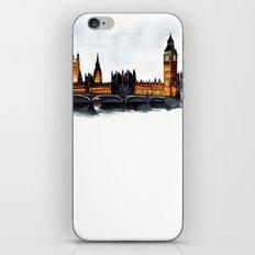 London, Big Ben, parliament, Watercolour iPhone & iPod Skin