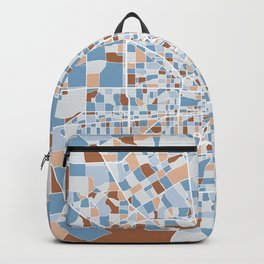 Houston City Map Art Backpack